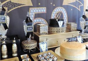 50 Birthday Decorations Ideas Kara 39 S Party Fabulous 50th Black Gold