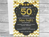 50 Birthday Invitation Cards Adult Birthday Invitation 50th Birthday Invitations