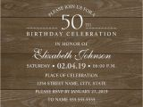 50 Birthday Invitation Cards Country Wood 50th Birthday Invitations Lace and Pearls