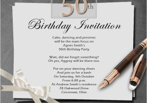 50 Birthday Invitation Sayings 50th Wording Samples Wordings And
