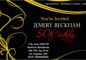 50 Birthday Invitation Sayings 50th Invitations And
