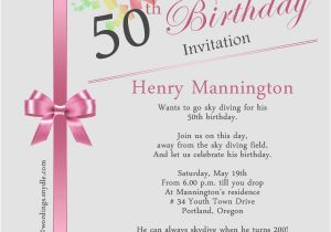 50 Birthday Invitations Wording 50th Invitation Samples Wordings And
