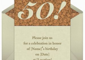 50 Birthday Party Invitation Wording 50th Invitations Samples Eysachsephoto Com
