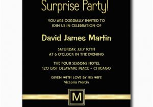 50 Birthday Party Invitation Wording Surprise 50th Invitations Free