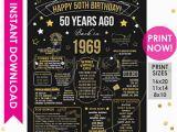 50 Year Birthday Gift Ideas for Him 50th Birthday Etsy