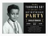 50 Year Old Birthday Invitations Sparkle Old Picture Surprise Birthday Invitations Zazzle
