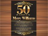 50 Year Old Birthday Party Invitations Years