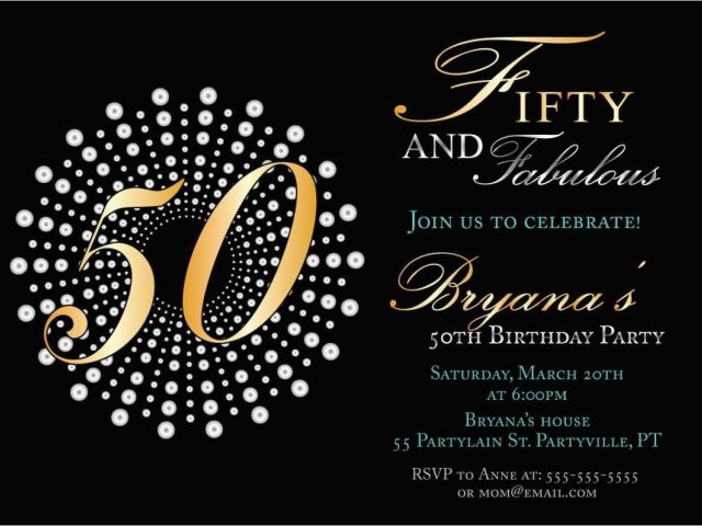 Download By SizeHandphone Tablet Desktop Original Size Back To 50 Years Birthday Invitation Card