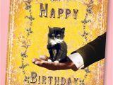 50s Birthday Card 50s Sweet Kitten Happy Birthday Greeting Card