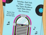 50s Birthday Invitations 50 39 S Jukebox Party Invitation