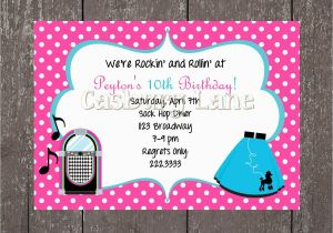50s Birthday Invitations 50 39 S Party Invites and Party Tags 50 39 S Party