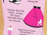50s Birthday Invitations 50 39 S Poodle Skirt Party Invitation