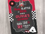 50s Birthday Invitations 50s Birthday Invitation Fifties Birthday Invitation Red