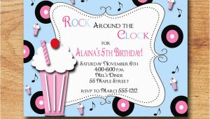 50s Birthday Invitations 50s Party Invitations Cimvitation