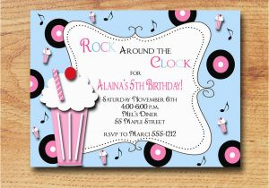 50s Birthday Invitations 50s Party Invitations Cimvitation