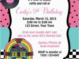 50s Birthday Invitations Items Similar to 50 39 S themed Birthday Invitation Birthday