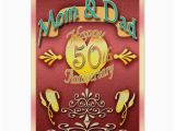 50th Birthday Cards for Mom Parents 50th Anniversary Card Mom Dad Zazzle Com