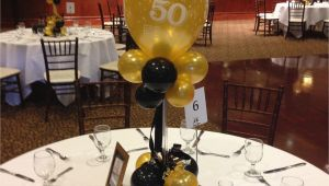 50th Birthday Centerpiece Decorations Black and Gold Balloon Centerpieces for A 50th Birthday or