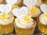 50th Birthday Cupcake Decorations 50th Wedding Anniversary Cupcake Ideas
