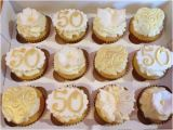 50th Birthday Cupcake Decorations Golden 50th Anniversary Cupcakes Cake by Candy Apple