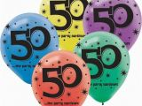 50th Birthday Decorations Cheap the Party Continues 50th Birthday 12 Latex Balloons