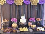 50th Birthday Decorations Purple Gold And Black Party Ideas