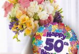 50th Birthday Flowers and Balloons Pin by Tiffany Rose Princess On Birthday Pinterest