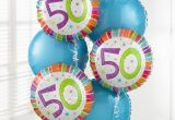 50th Birthday Flowers and Balloons the Flower Garden 50th Birthday Balloon Bouquet the Flower