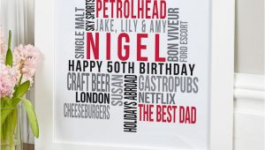 50th Birthday Gift Ideas for Him Uk 50th Birthday Gifts Present Ideas for Him Chatterbox Walls