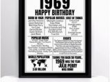50th Birthday Gifts for Her Ebay 50th Birthday Gift Present Poster Print Back In 1969