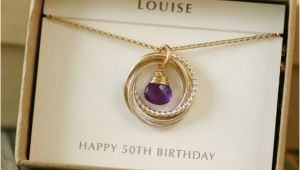 50th Birthday Gifts for Her Jewellery 50th Birthday Gift for Her Amethyst Necklace by