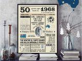 50th Birthday Gifts for Him Australia 50th Birthday 1968 Chalkboard Poster Sign Australian