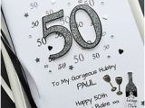 50th Birthday Gifts for Him Ebay 50th Birthday Card for Men Dad Husband son Personalised