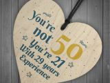 50th Birthday Gifts for Him Experience 50th Birthday Gift Wooden Heart 50 for Dad Mum Sister