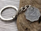 50th Birthday Gifts for Him India 50th Birthday Gift 1967 Indian Coin Keychain Keyring