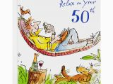 50th Birthday Gifts for Him John Lewis Woodmansterne Man Lying In Hammock 50th Birthday Card at