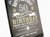 50th Birthday Gifts for Him Uk Happy 50th Birthday Gift Glass Plaque Fg49450 Ebay