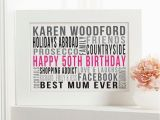 50th Birthday Gifts for Him Uk Personalised 50th Birthday Gifts for Her with Words
