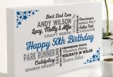 50th Birthday Gifts for Husband Uk 50th Birthday Gift Of Personalised Typographic Art