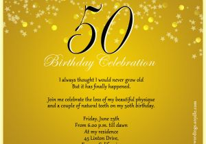 50th Birthday Invitation Quotes Celebration