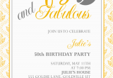 50th Birthday Invitations Free Download Fifty and Fabulous 50th Birthday Invitation Wedding
