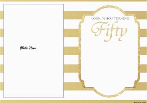 50th Birthday Invitations Free Download Printable Template