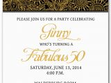 50th Birthday Invitations Free Download Template for 50th Birthday Invitations Free Printable