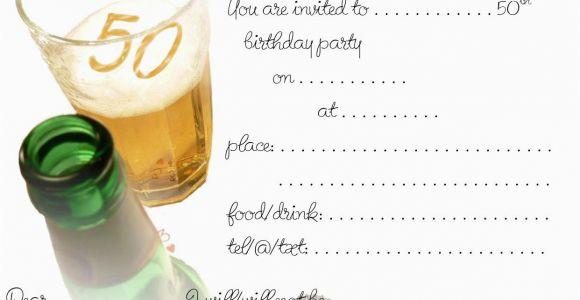 50th Birthday Invitations Free Free Printable 50th Birthday Invitations Drevio