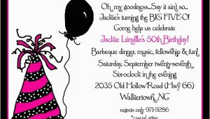 50th Birthday Invite Ideas Invitation for 50th Birthday Party New Party Ideas