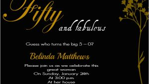 50th Birthday Invite Wording 50th Birthday Invitation Wording Samples Wordings and