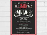 50th Birthday Invites for Men 50th Birthday Invitation for Men Jpeg Printable Aged to