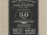 50th Birthday Invites for Men 50th Birthday Party Invitations for Men Cimvitation