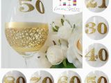 50th Birthday Mementos Gold 50th Birthday Personalised Wine Glass by Inaspinniquesway