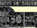 50th Birthday Party Decorations Black and Silver 50th Birthday Black Silver Party Supplies Party Wizard